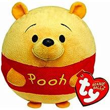 Ty - Bola de peluche con diseño de Winnie y sonido, 15 cm, color amarillo y rojo (United Labels 58103TY)