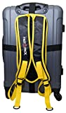 FastBpack Adattatore da Viaggio Che converte la Valigia in Uno Zaino. Travel Gear Suitcase to Backpack Converter (Giallo-Yellow)
