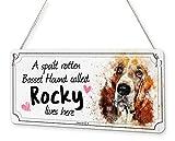 Beenanas Basset Hound Dog - Señal Personalizable con Texto en inglés Spoilt Rotten