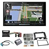 Pioneer AVIC-Z810DAB Navigation Digitalradio CarPlay Android Auto Bluetooth USB DAB+ CD DVD MP3 Einbauset für Mercedes Sprinter W906 Crafter