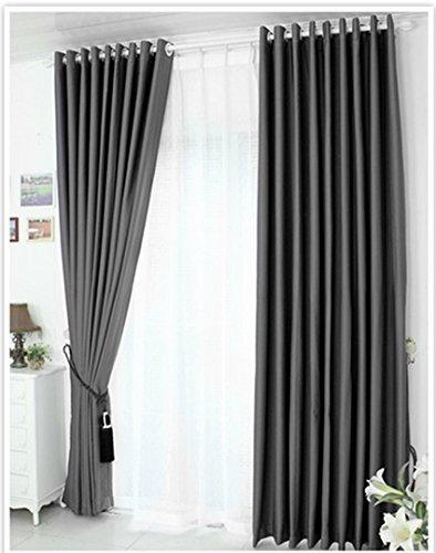 Rideau occultant rideau, rideau occultant rideau rideaux à œillets, lourd rideau occultant thermique, Tissu (135x245cm, gris foncé)