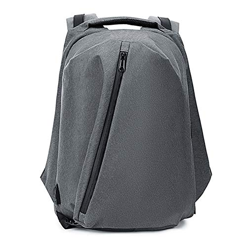 Multi-handle Satchel (LUCKGXY Klappender Multi-Funktions-Rucksack, Waterproof Large-Capacity USB Shoulders Bag Oxford College Schoolbag for Travel Outdoor Leisure Shopping Camping and Daily,Gray)