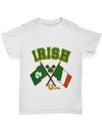 TWISTED ENVY Girl's Irish Flag St Patricks Day T-Shirt