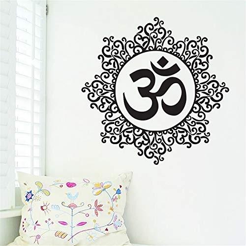 yiyiyaya Wohnzimmer Dekoration om Symbol wandaufkleber Mandala Muster Indian Yoga wohnkultur Vinyl Kunst wandbilder Kaffee 43x43 cm
