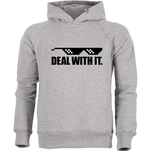 3dsupply Deal with It. - Stanley Hoodie, Heather Grey, Gr. 3XL (Gaming-hoodie Mlg)