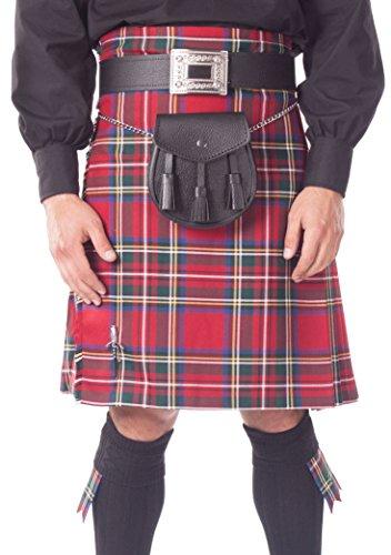 """Kilt Écossais DE 8 Yard pour Hommes - Royal Stewart Tartan - 46"""" à 50"""""""