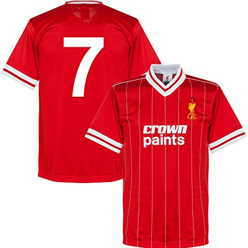 1982 Liverpool Home Retro Trikot + No.7 - S