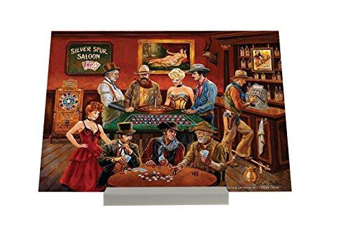 Cadre Photo USA Autochtone salon de poker à la roulette Publicité Piastra