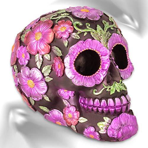 mtb more energy Deko Totenkopf ''Santa Muerte'' - Tag der Toten - Totenschädel Figur Sugar Skull