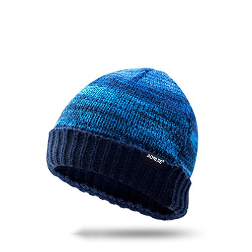 AONIJIE Männer/Frauen Winter Hüt Wolle Gestrickte Mütze Weichen Warme Ski Hut für Outdoor Sport (Grau)