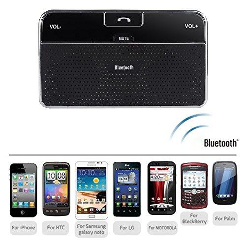BW manos libres kit de coche vehículo de manos libres Bluetooth V4.0multipunto parasol Auto altavoz para iPhone se 66S Plus 55S 5C 4S 4iPad, Samsung Galaxy S6/S6Edage S7/S7Edage, Google Nexus 7, Google LG Nexus 4, Google LG Optimus G Pro, Sony Xperia Z1L39H Z L36h, Blackberry Z10, teléfonos inteligentes y todos los teléfonos móviles Bluetooth