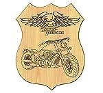 Allgemeine Quadro Haus aus Holz Motorrad Harley Davidson Kennzeichen Route 66 Geschenkidee