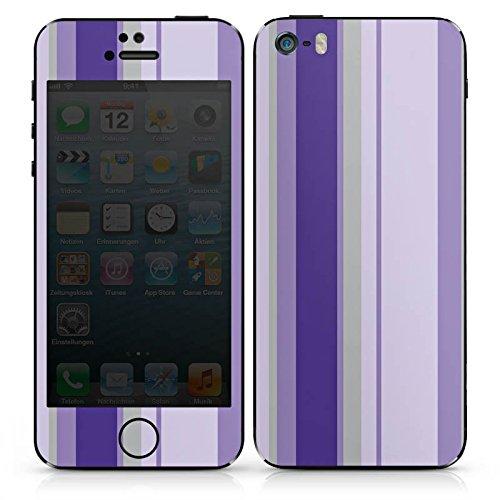 Apple iPhone 4s Case Skin Sticker aus Vinyl-Folie Aufkleber Streifen Lila Violett DesignSkins® glänzend