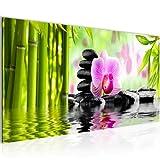 Runa Art WTD 502012a Orchidee Feng Shui Impression sur Toile Non tissée Format XXL Rose 100 x 40 cm...