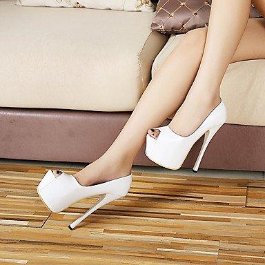 Moda Donna Sandali Sexy donna tacchi Slingback molla similpelle Party & Sera Stiletto Heel altri nero / rosso / bianco altri Black