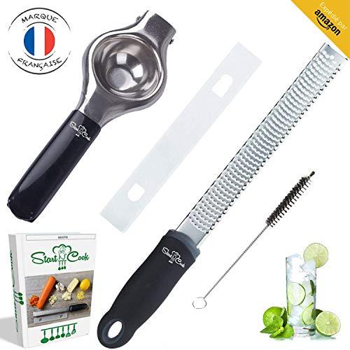 Grattugia zester da Start N' Cook - Molto efficace - E strarre rapidamente i vostri succhi di frutta - Facile da usare - Solido - GRATIS: PROTEZIONE DELLA LAMA + EBBOK - Facile da pulire