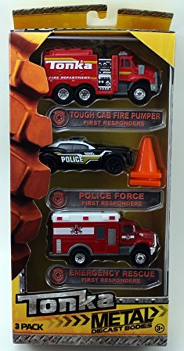 tonka-metal-diecast-bodies-first-responders-tough-cab-fire-pumper-police-force-emergency-rescue-by-f