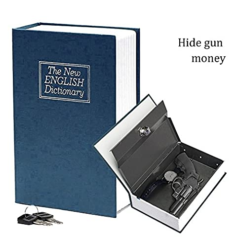 HANDSOME Secret Dictionary Book Travel Safe Security Key Lock Money Cash Jewellery Box Size Big (9.5 x 6.2 x 2.2 inches)