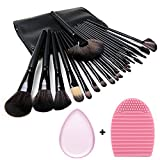 24 pezzi Set di spazzole per trucco, spazzole per occhi Synthetic Kabuki Cosmetics Foundation Spazzole Eyeliner Spazzola per trucco spazzola in polvere da spazzola immagine