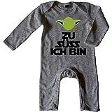 Mikalino Baby Schlafanzug Zu Süss Ich Bin Langarm, Farbe:Heather;Grösse:3-6 Monate