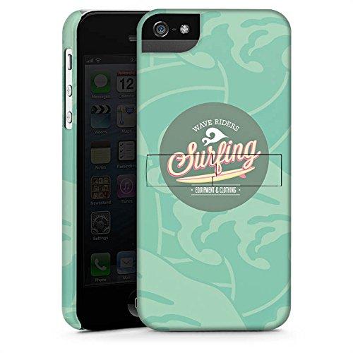 Apple iPhone 5 Housse étui coque protection Surfer Surfeur Été CasStandup blanc