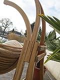 DESIGN Hängesesselgestell Hängesessel aus Holz Lärche Modell: CATALINA komplett mit großem Stoffsessel von AS-S - 5