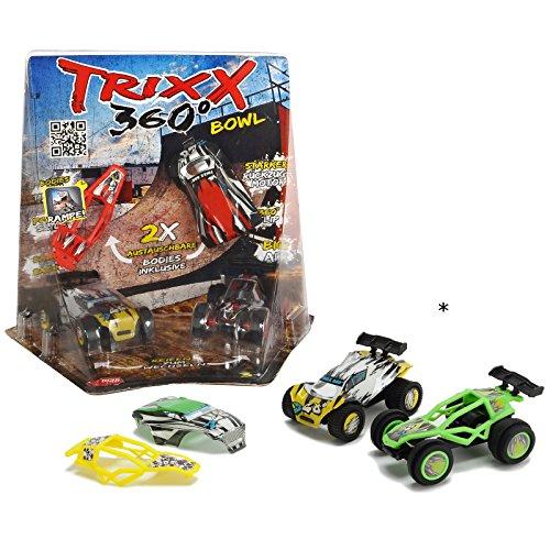 Unbekannt Trixx 360° Street inklusive 2 Auto Modelle TRXX004 und austauschbare Karosserien • 360 Corner Ramp Spielzeugauto Stunt Rampe Kinder Spielzeug Set
