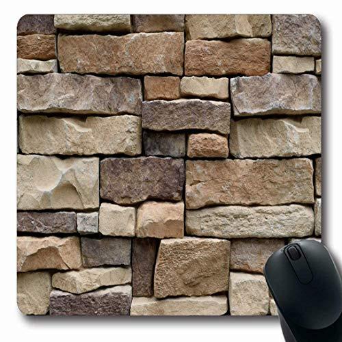Luancrop Mauspads für Computer Zeitgenössische Rock Stone Wall Natürliche Farbe Abstrakt Sauber Modernes Design Vintage rutschfeste Längliche Gaming-Mausunterlage - Große Zeitgenössische Wall