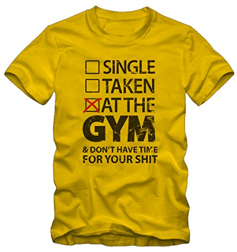 T-shirt Ironic At The GYM Ironica By Bisura Giallo