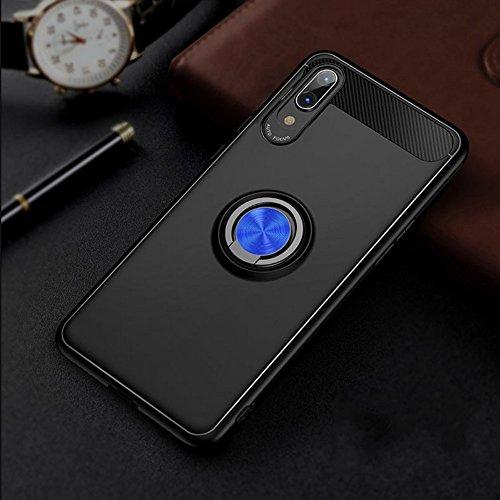 Enjoyall Handyhülle mit Ring Kickstand mit 360 Grad Drehbarer Ständer und Handyhalterung Auto Magnet Ring, Dual Layer Stoßfest Rüstung Schutzhülle Bumper Tasche Case Cover für Huawei P20 Pro