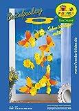 Fischer Fensterbilder SCHMETTERLINGS-MOBILE / Bastelpackung / Größe ca. 25x60 cm / Mobile / zum Selberbasteln / Basteln mit Papier und Pappe