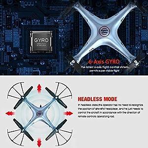 Xianxian88 FPV remote control drone, HD camera drone, 360 flip / 2.4G control/four channel/automatic return/six-axis gyroscope, drone - aerial camera