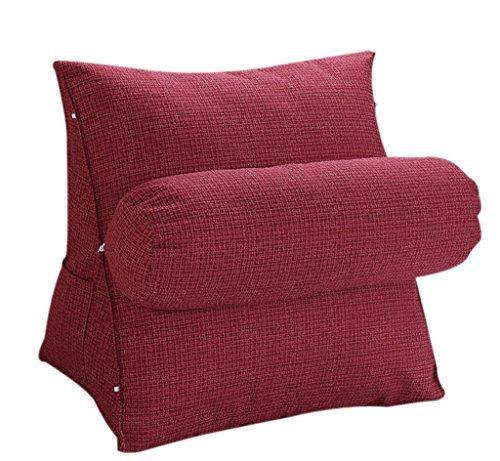 HALOViE Verstellbare Rücken Keil Kissen 47 x 45 x 23 Sofa Bett Bürostuhl Rest Kissen Nacken Unterstützung Kissen Perle Wolle