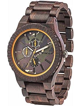 WeWood Holz-Armbanduhr Kos Choco Camo WW30005