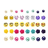 Multi Packungen sortiert Emoji Ball Ohrstecker Set für Frauen Mädchen, hypoallergen