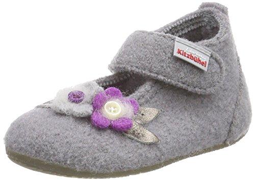 Living Kitzbühel Babyballerina Eule, Chaussons premiers pas mixte bébé Gris - Grau (630 frost grey)
