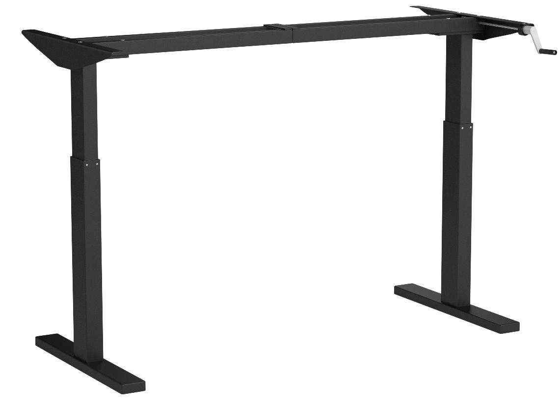 Flexispot H2B Höhenverstellbarer Schreibtisch Kurbelverstellbares Tischgestell, Passt für Alle Gängigen Tischplatten.