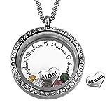 Charm Medaillon - Für Mütter und Großmütter -Personalisierte Kette für Muttertag mit Geburtssteinen