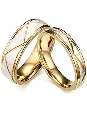 Adisaer Edelstahl Paar Ringe Gold Silber Scrubs Diamantschliff Ring Für Herren Verlobugringe Breite 6MM