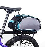 SZSMD SZSMD Fahrradtasche, Wasserdicht Gepäckträgertasche 13L Fahrradtasche Packtasche mit Schultergurt