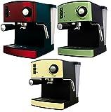Espresso machine with 15 bar and Milk foamer cappuccino espresso machine machine stainless steel (Cream) (Cream)
