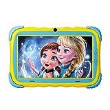 Kindertablet, 7 Zoll Kinder Tablet Pad Lerntablet für Kids, 1GB + 16 GB, Android 7.1 OS, IPS-Touchscreen, WiFi, Bluetooth & Google Play, Dual-Kamera mit kindgerechte Silikon Hülle Tablet