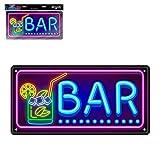 STC Plaque Effet Neon Bar
