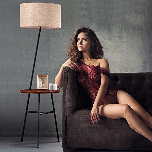 DHG Wohnzimmer Stehlampe, Nordic Moderne minimalistische Lampe, Schlafzimmer Schlafzimmer Lampe, amerikanische Couchtisch Lampe,schwarz,Fernbedienung