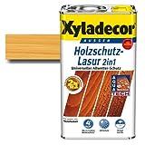 Xyladecor® Holzschutz-Lasur 2 in 1 Kiefer 5 l - farbbeständig | atmungsaktiv | Dünnschicht-Lasur