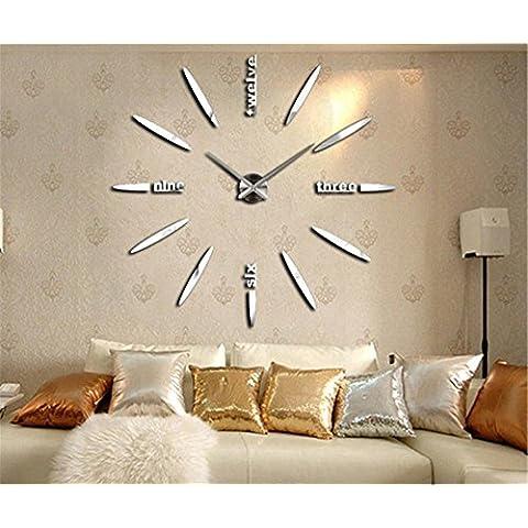 GYN Acrílico de moda creativa continental DIY reloj minimalista de pared pegatina reloj artística decoración decoración casa decoración ,