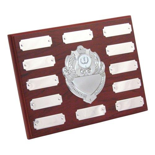 15,2x 20,3cm einjährig Shield mit gratis Gravur bis zu 30Buchstaben pro Platte, Center Disc kann zu ändern ihre Sport oder Zeitvertreib trs117