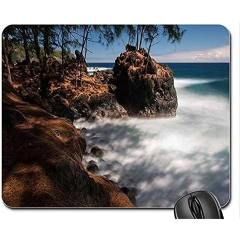East Coast Laupahoehoe punto Big Island Hawaii, colore: volcanic rock surf e spiaggia Mouse Pad, tappetino per Mouse, spiagge Mouse Pad) - East Rock