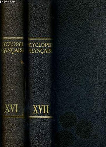 ENCYCLOPEDIE FRANCAISE - 2 TOMES - TOME ...