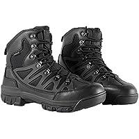 FREE SOLDIER Botas para Senderismo Botas de Invierno, Botas de Cuero, Hombre, Black Leather, 40